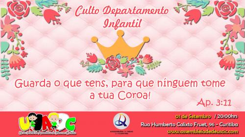 BANNER CULTO DP INFANTIL